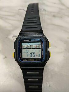 1989 Casio FT-100W Fish En Time Marlin Diver Watch Module 844