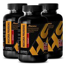 libido max - L-DOPA 350MG - l-dopa powder - 3 Bottles (180 Capsules)