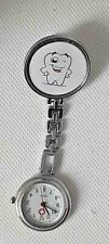 HAPPY TOOTH fob watch Dentist   beautician , therapist ,nurse  clip on