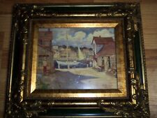"LESLIE COPE FRAMED PRINT ""BOUTIQUE BY THE SEA"""