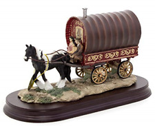 The Travellers Horse Drawn Gypsy Caravan Ornament