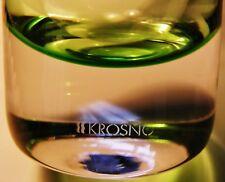 VINTAGE 1990s KROSNO SIGNED SASHAY ART GLASS STEM VASE BOTTLE 41cms APPLE