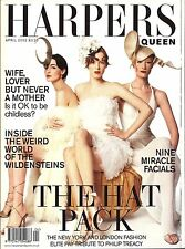 Harpers & Queen April 2002 Erin O'Connor, Karen Elson, and Jade Parfitt cover