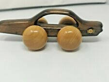 Mercedes Benz MB 380 SL Vintage Wood Sports Car Wooden Back Massager