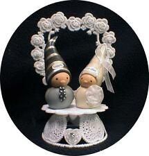 Adorable Bea's Wees Happily Ever After Wedding Cake topper top Fairytail Funny
