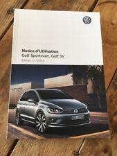 Manuel D Utilisation Volkswagen Golf Sportsvan, Golf Sv