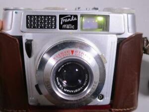 Alte Franka matic Kamera mit Color-Westanar  1:2.8/45 Asco  + Tasche    1M4549