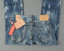 New Men's True Religion Jeans Straight Stretch Earthworm Big T Size 34
