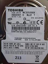320gb Toshiba mk3252gsx hdd2h01 C wl01 T | lv010a | g002217a #213