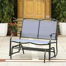 Sedia Panchina Con Altalena Da Giardino Dondolo Blu IKAYAA H17949BL