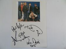 More details for happy mondays autographed 8 x 6 album page. signed by 5.