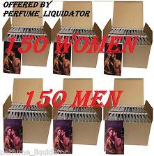 PERFUME EDP FOR WOMEN AND COLOGNE EDT FOR MEN samples 300 vials LOT travel