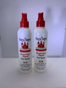 2x Fairy Tales Rosemary Repel Daily Kid Hair Spray for Lice Prevention - 8 oz