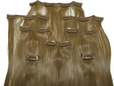 Clip In Kunsthaar Set 8-teilig glatt blond HaarverlängerungExtensions Hair