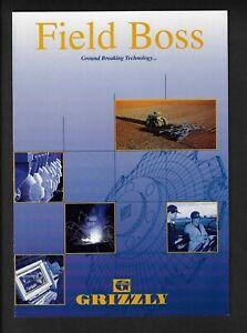 GRIZZLY FIELD BOSS 6 PAGE FOLDOUT TYPE BROCHURE 1998
