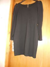 Black bodycon mini dress with chiffon sleeves 10 12 60s style mod