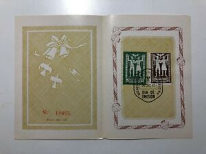 1947 Argentina Folder Booklet Libretto Numerato Numbered Mondial Peace Pace