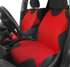 2 RED FRONT Cotone Canotta Car Seat Covers Protettori Per FIAT 500