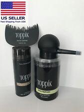 TOPPIK Hair Building Fiber Light Brown 27.5g With Spray Applicator+Free Combo