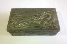 Antique Japanese Meiji period antimony trinket box