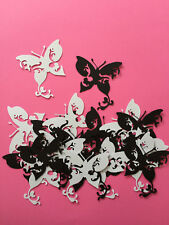 Fancy Butterfly Diecuts, Black and Silver-white, Decorations, Scrapbooking,Cards