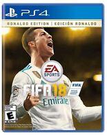 FIFA 18 Sony Playstation 4 (PS4) Ronaldo Edition Brand New Sealed