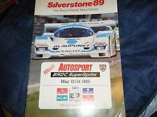1989 SILVERSTONE PORSCHE 962 DAUER SPICE SE89C1 CHEETAH ASTON MARTIN AUTOGRAPHED