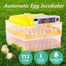 112 Digital Egg Incubator Hatcher Temperature Control Automatic Turning Chicken