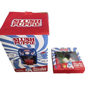 Slush Puppie Slushie Machine with Syrup and Straws