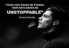 CRISTIANO RONALDO SIGNED MOTIVATIONAL QUOTE PRINT POSTER AUTOGRAPH
