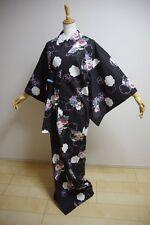 Kimono Dress Japan Vintage Yukata Japanes Geisha costume used  cotton KDJM-Y0001