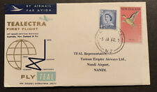 1960 NZ Tealectra 1st Flight Australia NZ Fiji Flight Cover