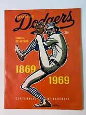 1969 LA Dodgers vs Atlanta Braves Official Scorecard SCORED GOOD
