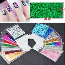 50 Sheet Starry Sky Shimmer Nail Foil Holographic Laser Paper Sticker Decoration