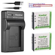 Kastar Battery Slim Charger for Fujifilm NP-50 NP-50A Fuji FinePix XP170 Camera