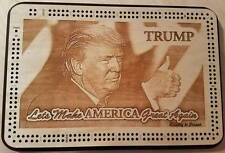 President Elect Donald Trump Make America Great Again Two Track Cribbage Board