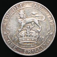 1905 | Edward VII One Shilling 'Key Date' | Silver | Coins | KM Coins