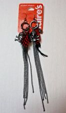 CLAIRE'S HALLOWEEN  Long Dangling Skull  EARRINGS    All NEW GP #13