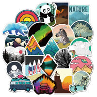 50Pcs Camping Landscape Stickers Bomb Vinyl Laptop Skateboard Luggage Decals Lot