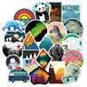50 Outdoor Skateboard Stickers Bomb Vinyl Laptop Luggage Decals Dope Sticker Lot