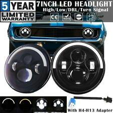 """2X 7""""Inch 18000LM LED Headlight Round HI/LO Sealed For Chevy Pickup Truck 3100"""