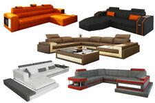 Verstellbare Armlehnen Sofas aus Leder
