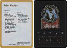 1x Decklist - Brian Hacker - 1998 NM-Mint, English World Championship Cards MTG