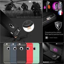 Etui Coque Housse Silicone PC carbone antichoc Case cover iPhone 5s SE 6 6s 7 8