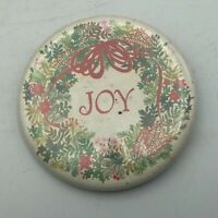 "Vintage JOY Christmas Holly Hallmark Cards 2-1/4"" Button Pin Pinback  Y4"