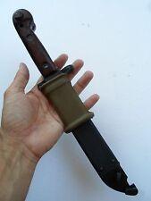 VINTAGE ROMANIAN BAYONET KNIFE, SCABBARD, GRIP/INSULATOR, VERY GOOD+ CONDITION