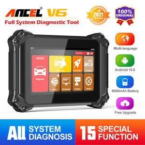 ANCEL V6 All System OBD2 Scanner Car Diagnostic Tool BMS SRS ABS SAS EPB Tablet