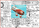 """Model Airplane Plans (UC): Gee Bee R-1 Scale 28"""" for .25-35 by Paul Del Gatto"""