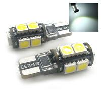 2x Xenon White 9 SMD LED Side Light W5W T10 501 Fits Land Rover RTSL1017W