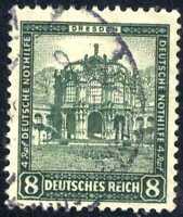 1931 Germany Welfare Fund 8pf Green  SC#B38 SP28  USED